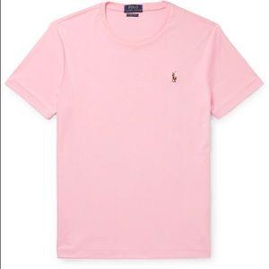 Polo Ralph Lauren 100% Cotton Pink Jersey Shirt XL